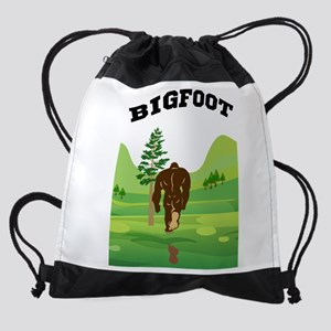 Bigfoot lives! Drawstring Bag